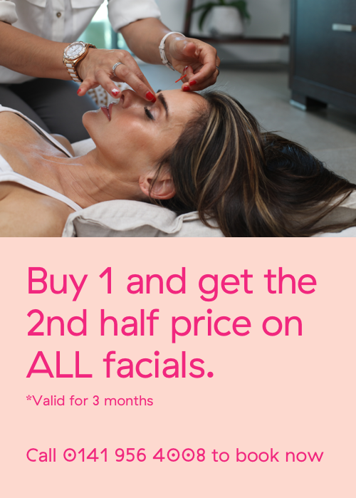 Buy one and get the second half price on all facials